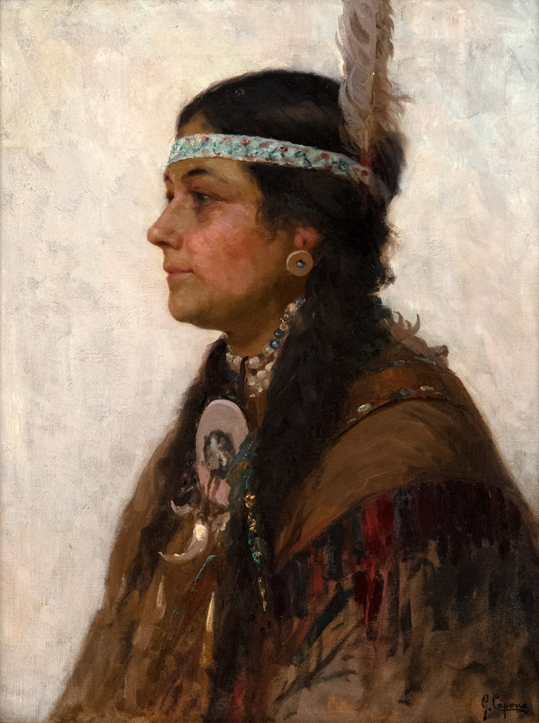 Indian Princess. (c. 1910) by Gaetano Capone (Italian, 1845-1920)