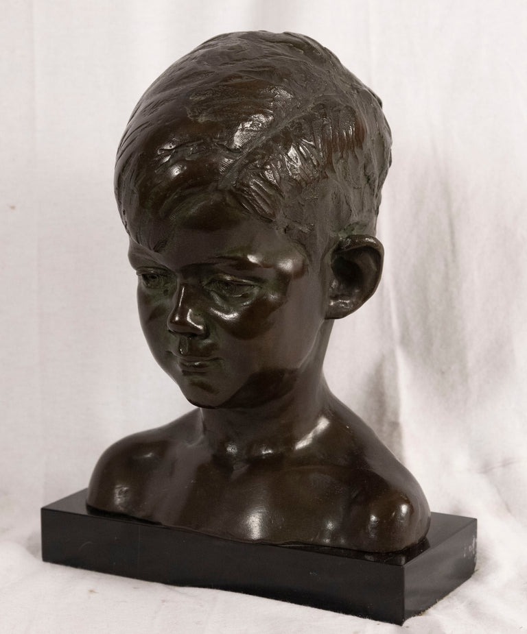 Bust of Young John F. Kennedy by Nison Tregor