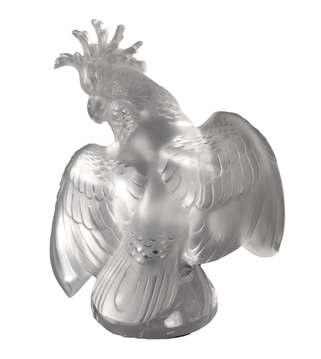 "Lalique France ""Cockatoo"" Crystal Sculpture"