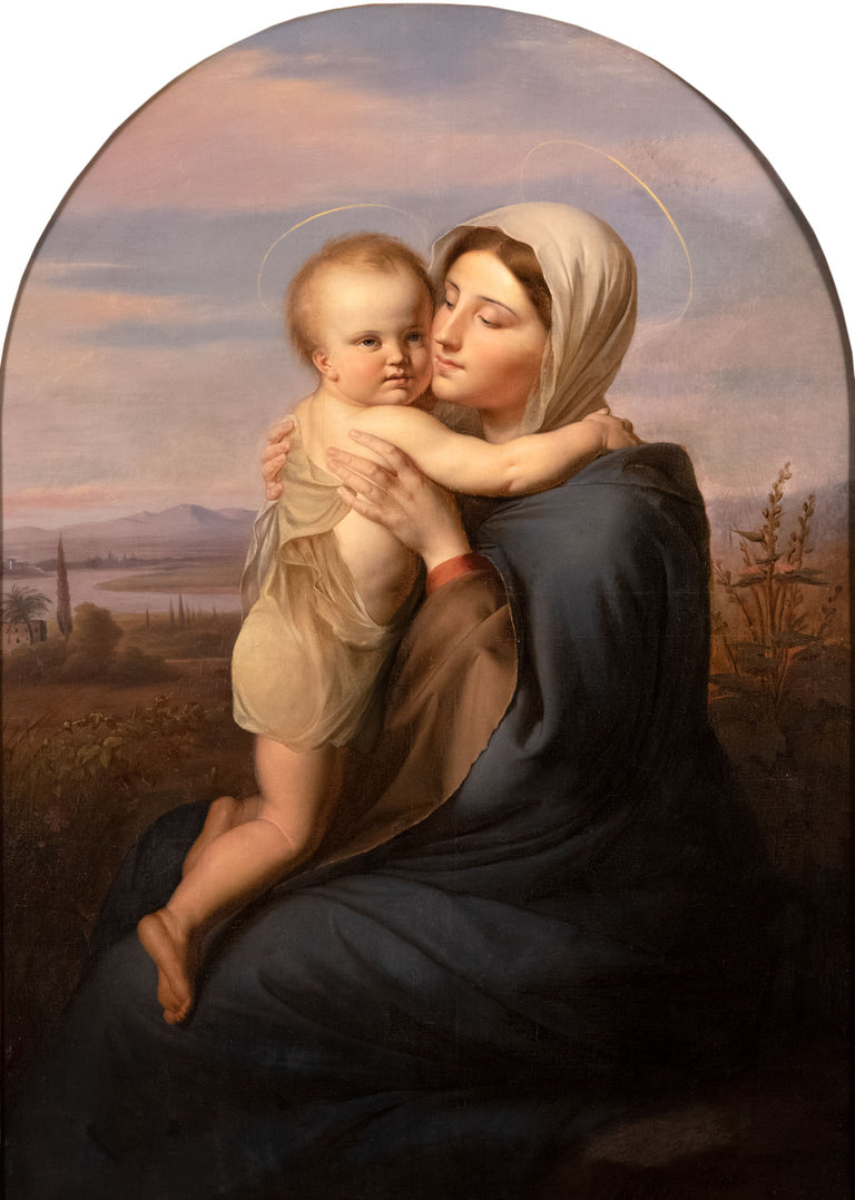 Madonna and Child by Jean Baptiste (Jean Mathieu) Nisen