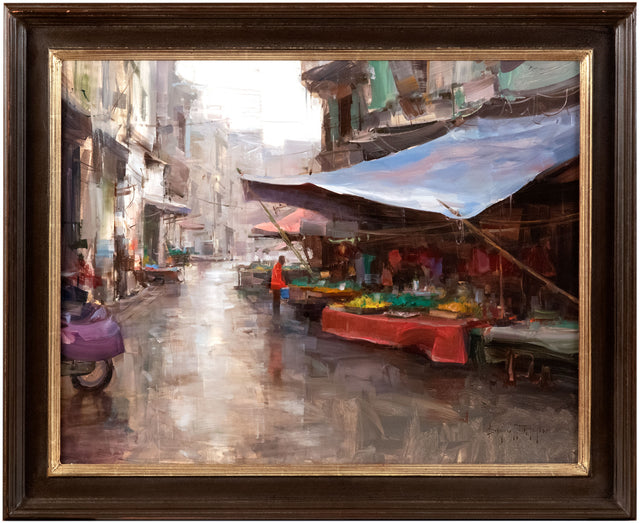 Market in the Rain by Bryan Mark Taylor