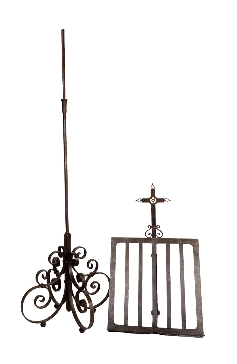 Monumental Wrought Iron Lectern or Bookstand