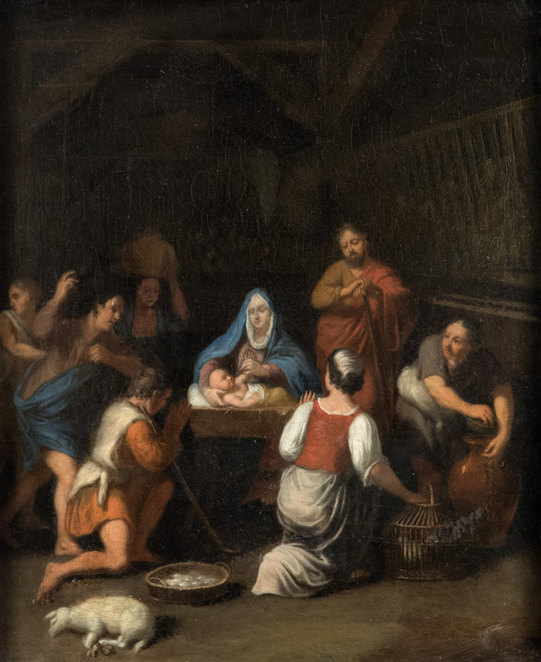 The Adoration of the Shepherds Oil Painting