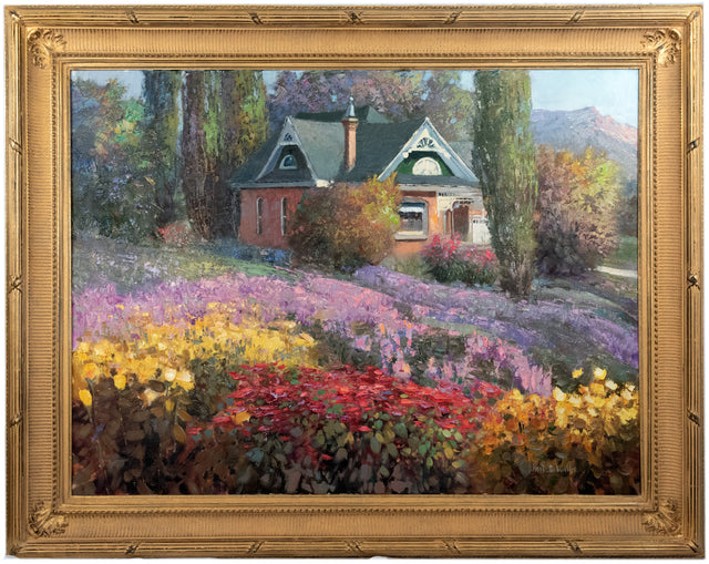 Nestled in Flowering Fields by Kent Wallis