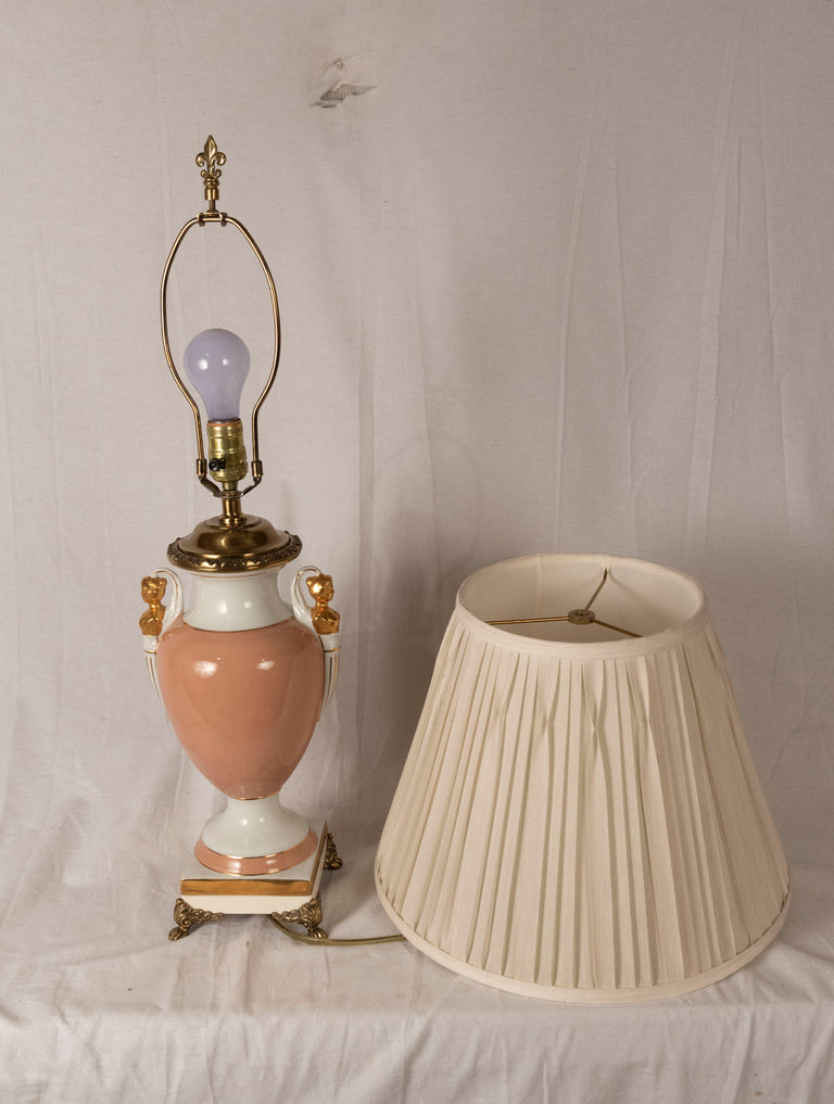 Neoclassical Porcelain Vase Lamp