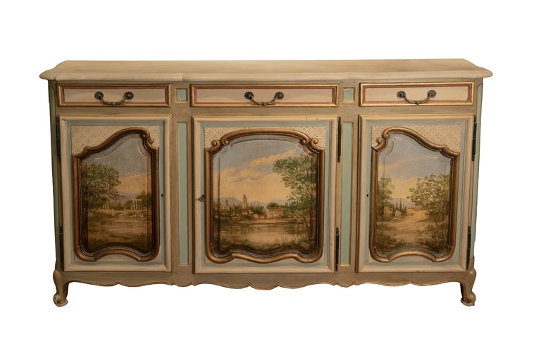 Louis XV Style Painted Sideboard
