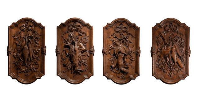 Suite of Four Hunting and Fishing Trophy Plaques
