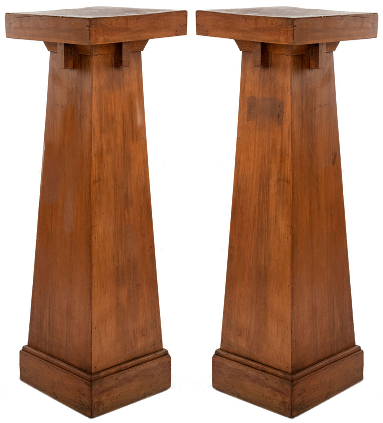 Pair of Arts & Crafts American Pedestals (c. 1900)