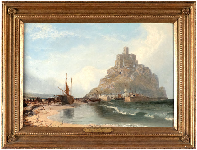 St. Michael's Mount, Cornwall, 1860 by Joseph Paul Pettitt