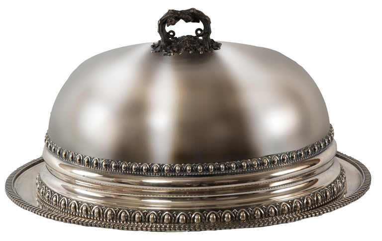 Silver-Plate Dome and Platter