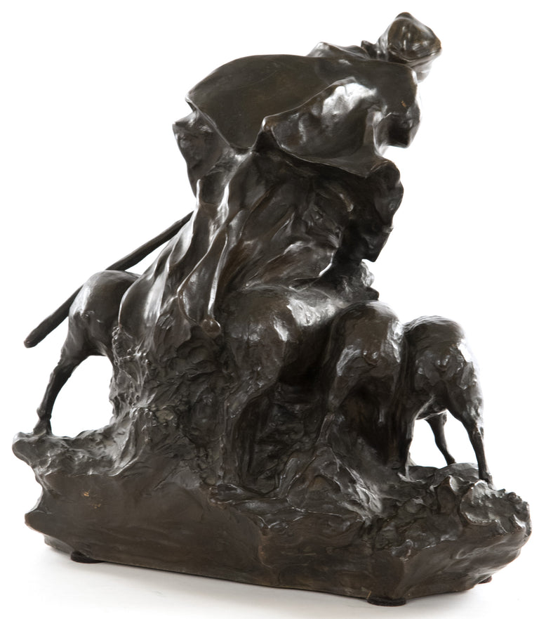 Shepherdess Bronze Grouping by Charles Korschann