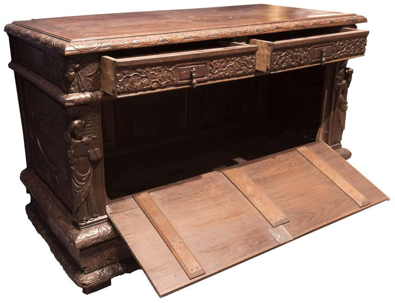 18th Century Carved Oak Sideboard