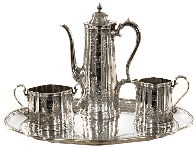 Four-piece Tiffany & Co. Sterling Silver Coffee Service