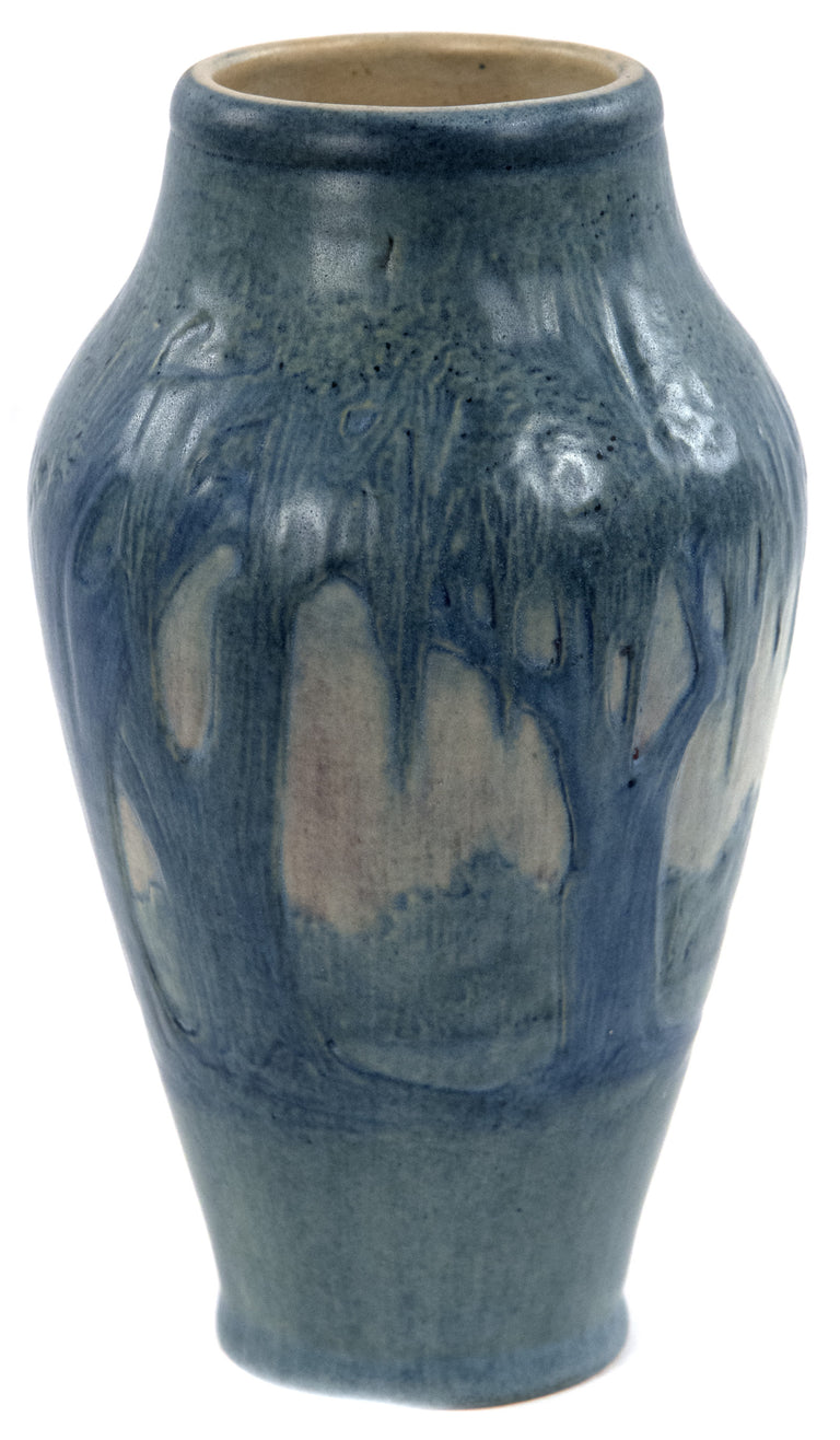 Newcomb Vase Decorated with Moss Laden Trees