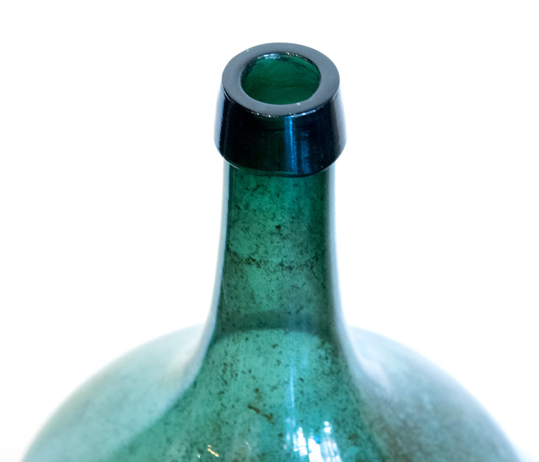 French blown-glass wine bottle (c. 1885)