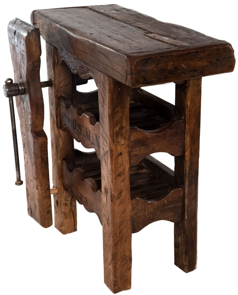 Small French wine rack workbench