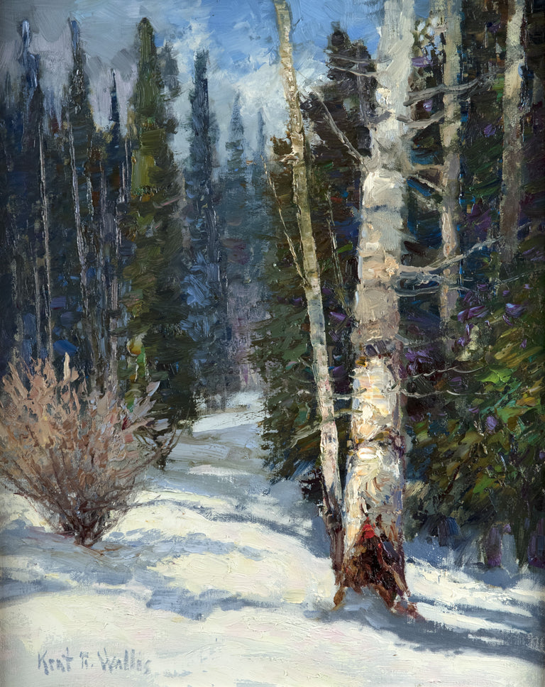 Snowy Path by Kent Wallis