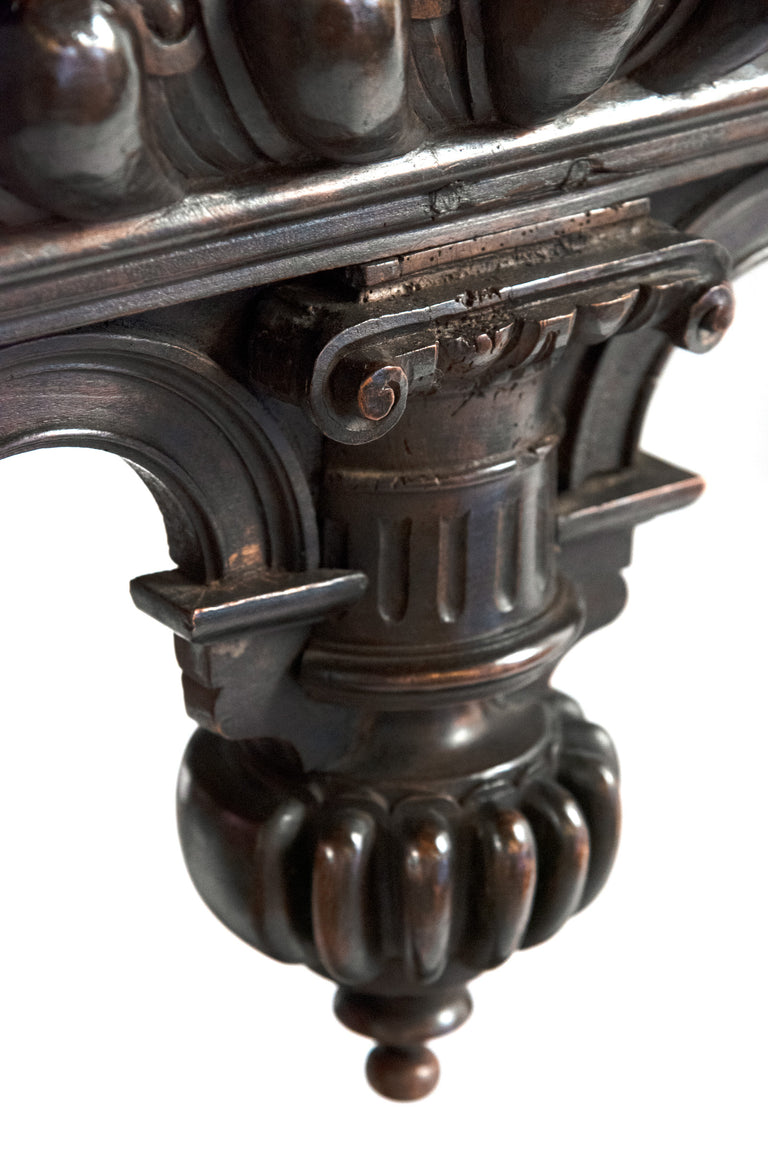 Baroque French walnut center table (c. 1680)