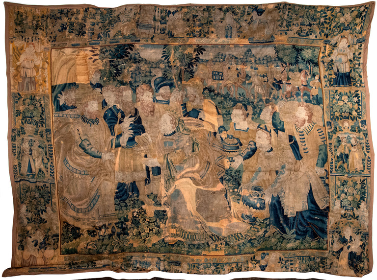 Fifteenth-century Tapestry of Abraham paying Tithes to Melchizedek (c. 1490)