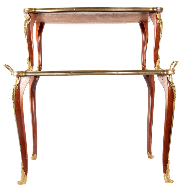 French Louis XV Style Two-Tiered Occasional Table