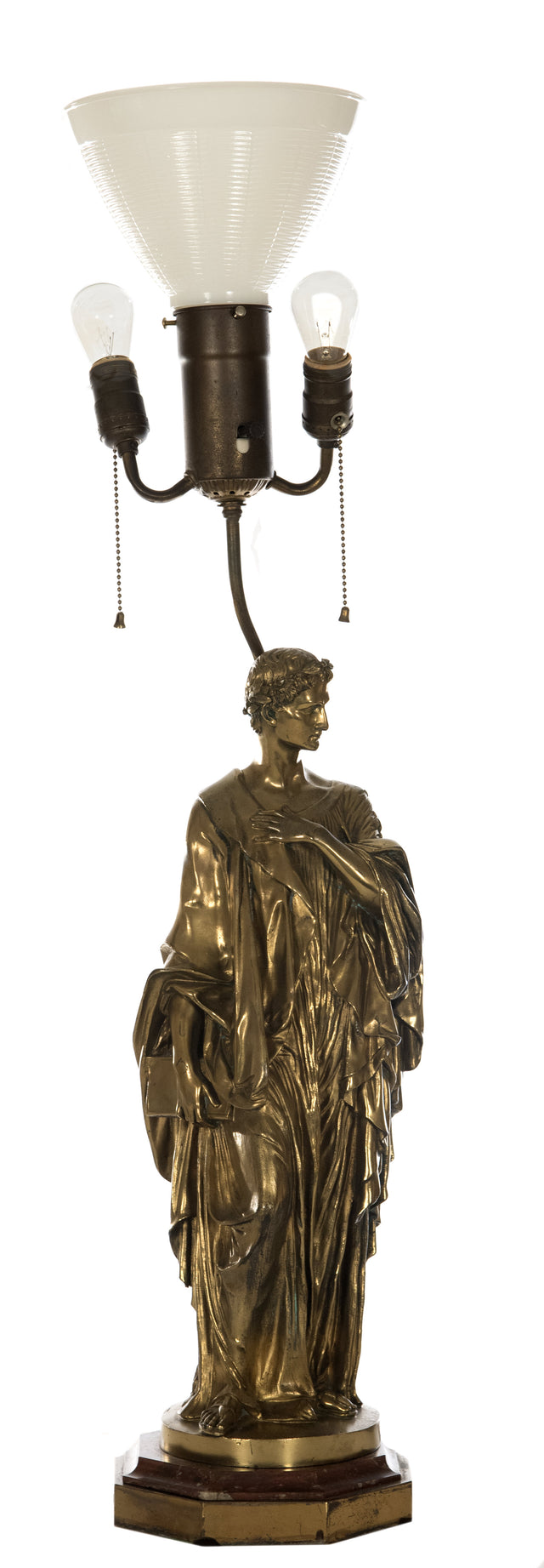 Tiffany & Co. Gilt-painted Bronze Figural Table Lamp
