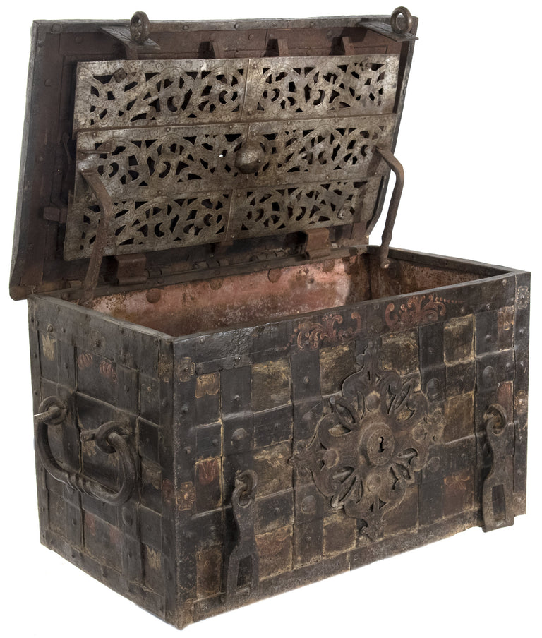 17th Century German Iron Armada Chest