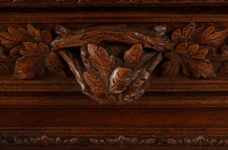 Exquisitely carved French Saint Hubert Cabinet