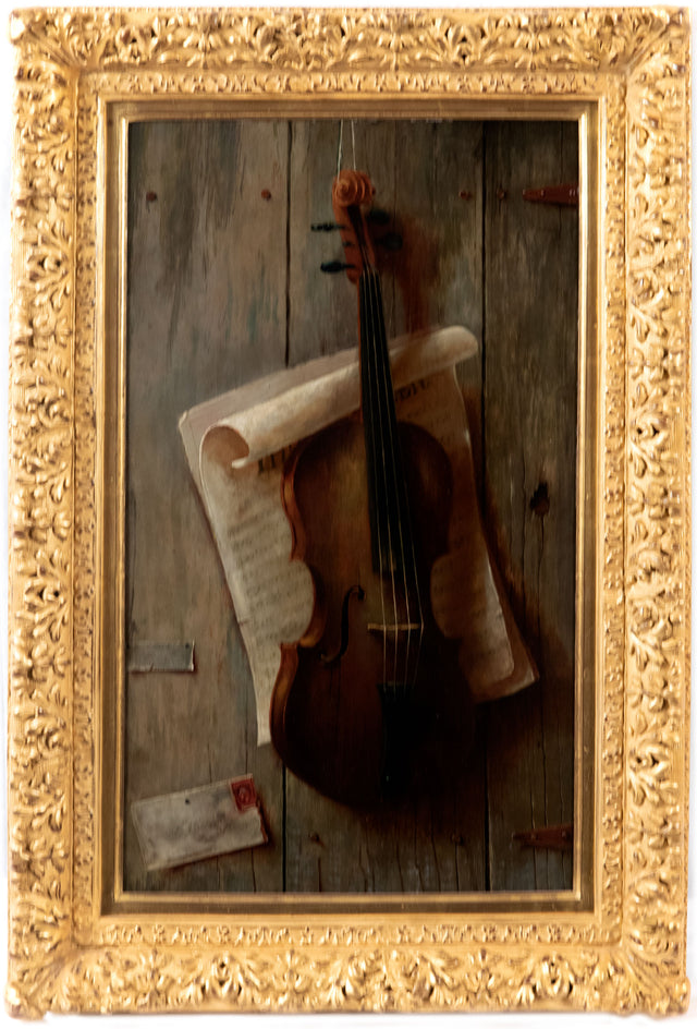 Violin Trompe l'oeil after William Harnett