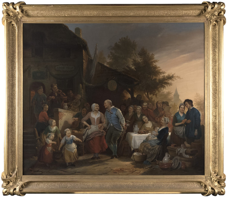 The Golden Wedding Feast by Circle of Ferdinand de Braekeleer