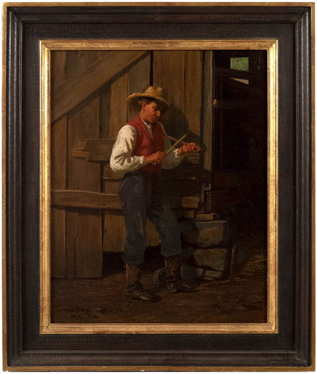 Whittling Gentleman by Enoch Wood Perry