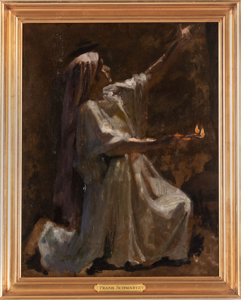 Study for the Wise and Foolish Virgins by Frans Schwartz