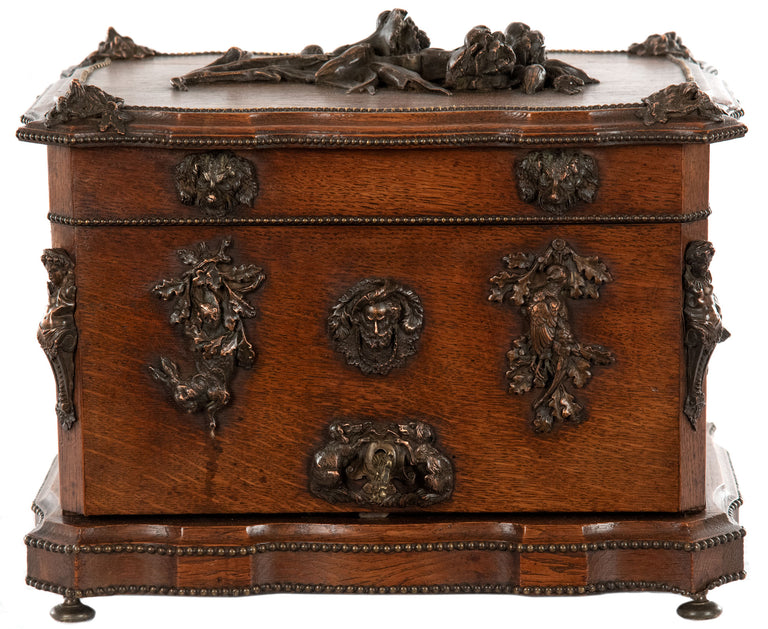 19th Century French Oak Tantalus