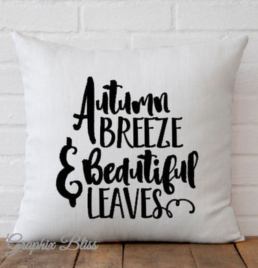 Autumn Breeze And Beautiful Leaves Pillow Cover