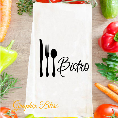 Bistro Cafe Flour Sack Tea Towel