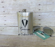 Personalized 8 oz Hip Flask For Bridal Party Groom Groomsmen Best Man