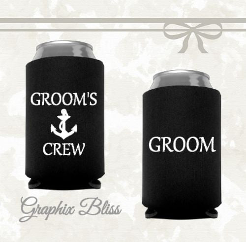 12+ Groom's Crew Bachelor Party Custom Wedding Can Coolers