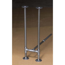 "BKH1128C Pipe Legs KIT for Console Table Narrow Desk, H shape, 11"" x H28"" Pack of 2 with Cross Bar"