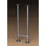 "BKH1128 Pipe Legs KIT for Console Table Narrow Desk, H shape, 11"" x H28"", Pack of 2"