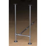 "BKH1734C Pipe Legs KIT for Counter Height Table, H shape, 17"" x H34"" Pack of 2 with Cross Bar"