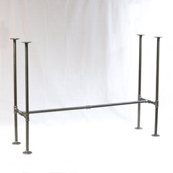 "BKH1740C Pipe Legs KIT for Bar Table H shape, 17"" x H40"" Pack of 2 with Cross Bar"
