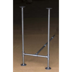 "BKH1934C Pipe Legs KIT for Counter Height Table, H shape, 19"" x H34"" Pack of 2 with Cross Bar"