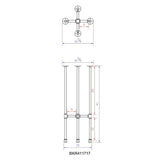 "H41"" ROUND - BKR41**** Pipe Legs KIT for Bar Height Table"