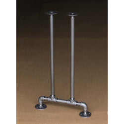 "BKT1628 Pipe Legs KIT for Console Table Narrow Desk, T shape, 16"" x H28"", Pack of 2"