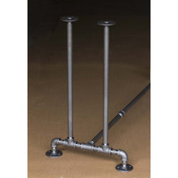 "BKT1828C Pipe Legs KIT for Console Table Narrow Desk, T shape, 18"" x H28"" Pack of 2 with Cross Bar"
