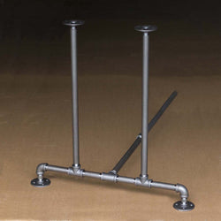 "BKT2828C Pipe Legs KIT for Dining Table, T shape, 28"" x H28"" Pack of 2 with Cross Bar"