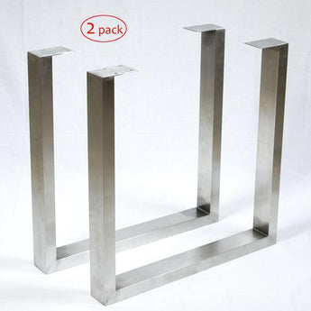 SS100A2 Stainless Steel Dining Table U Legs, 1 Pair