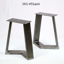 SS400 Cress Bench Legs, Black powder coated , 1 Pair