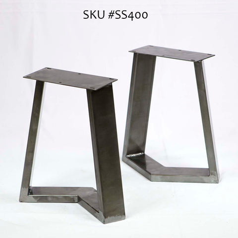 SS400 Cress Bench Legs Black powder coated , 1 Pair
