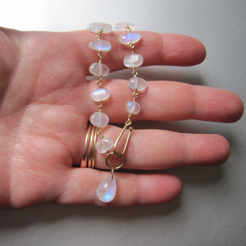 moonstone pebble solid 14k gold bracelet3