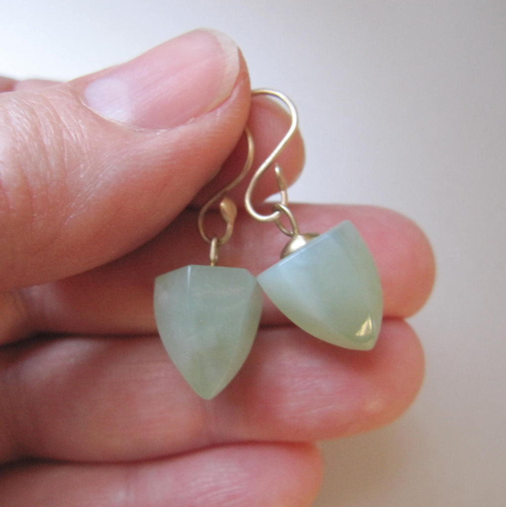 serpentine pointed faceted drops solid 14k gold earrings5